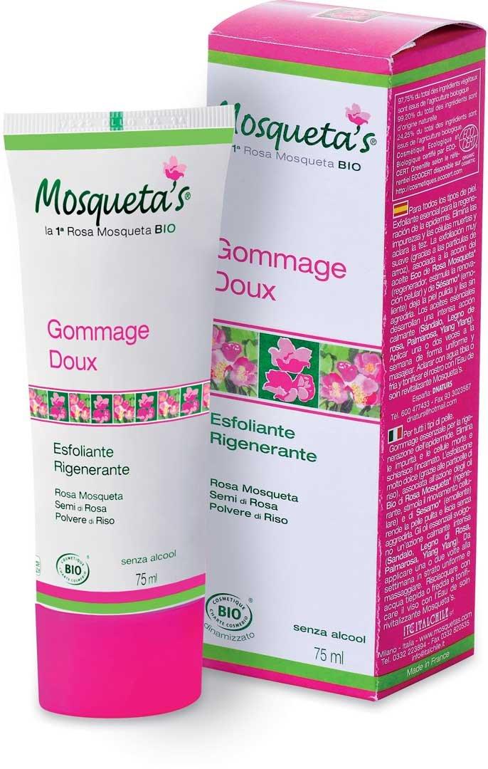 Gommage doux bio Visage à la rose musquée 75ml Mosqueta' s 126028