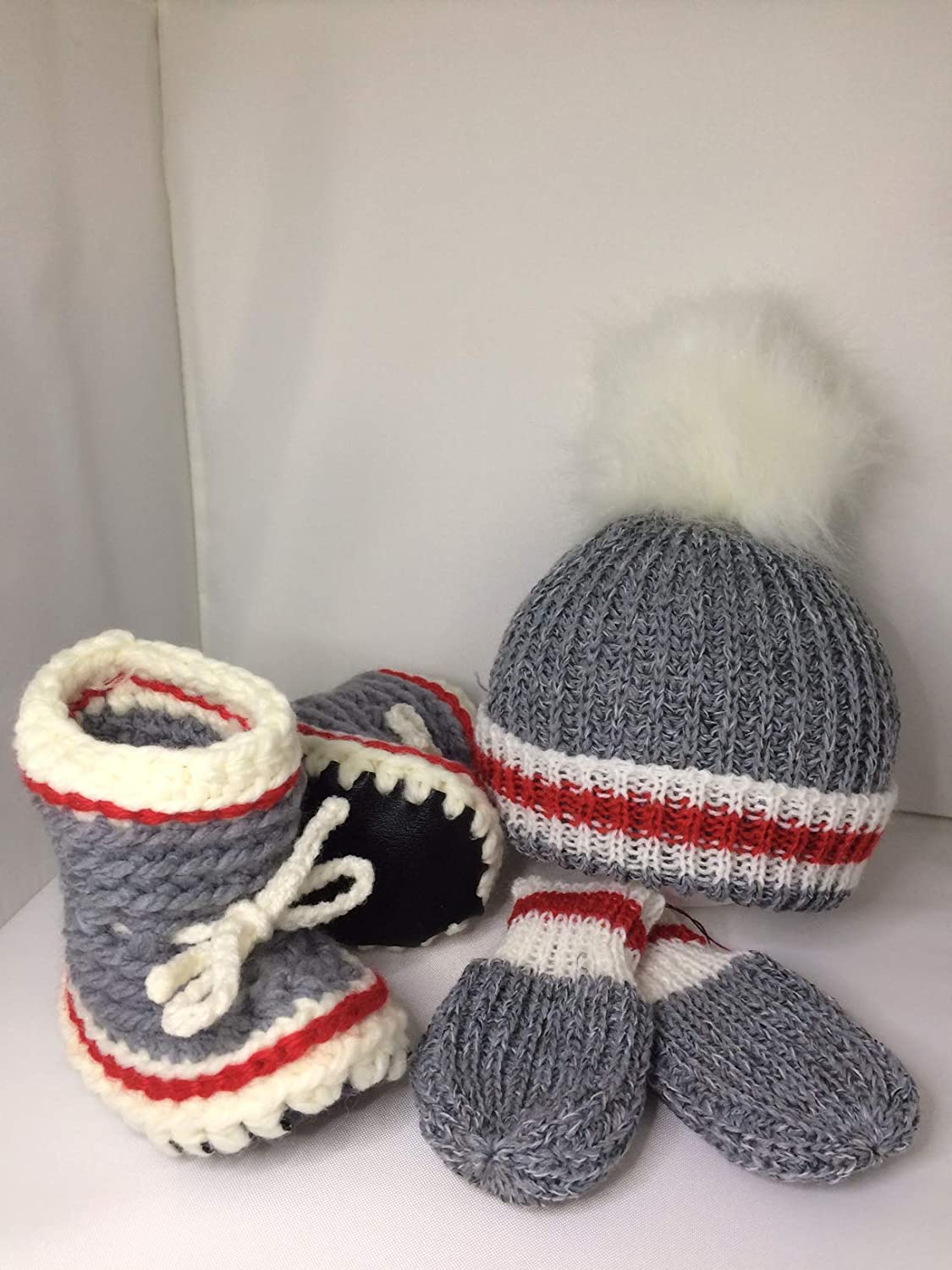 sock monkey style 3 pc set