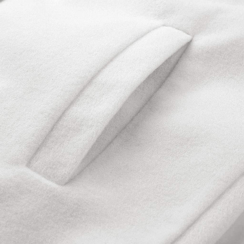 Wadonerful Womens Woolen Jacket Lapel Long Sleeve Single Buckle Trench Coat Winter Warm Slim Mid Long Outwear Overcoat