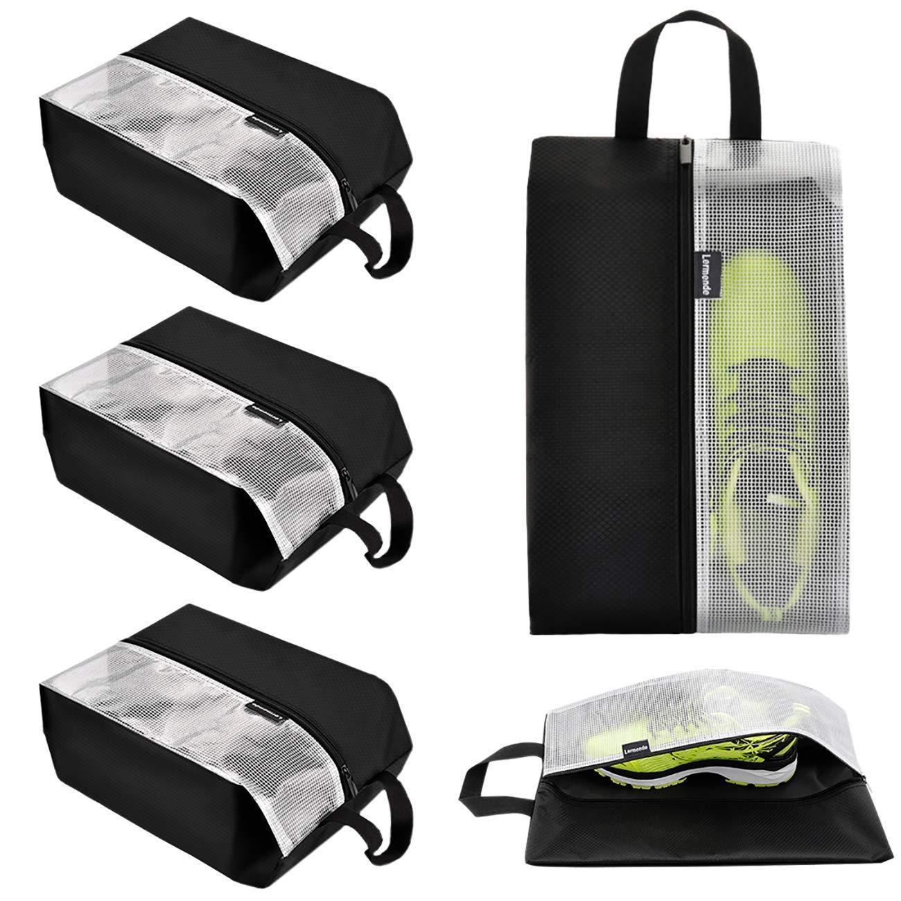 Lermende Travel Shoe Bags Waterproof Nylon Organizer Storage Tote Pouch 5pcs by Lermende
