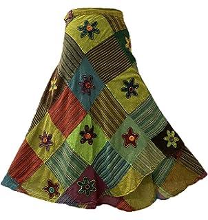 20-34 2621 L Boho All Season Wrap Around Short Skirt 26; Waist TLB