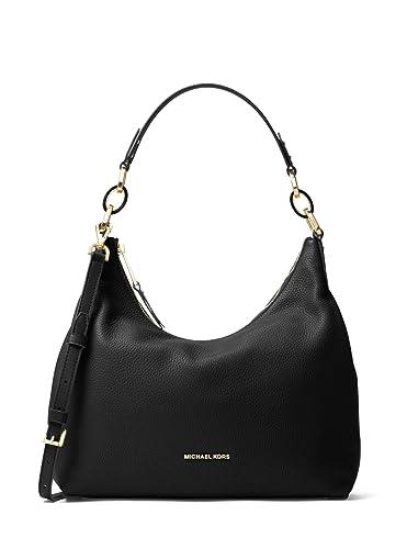 MICHAEL MICHAEL KORS Isabella Large Leather Shoulder Bag (Black ...