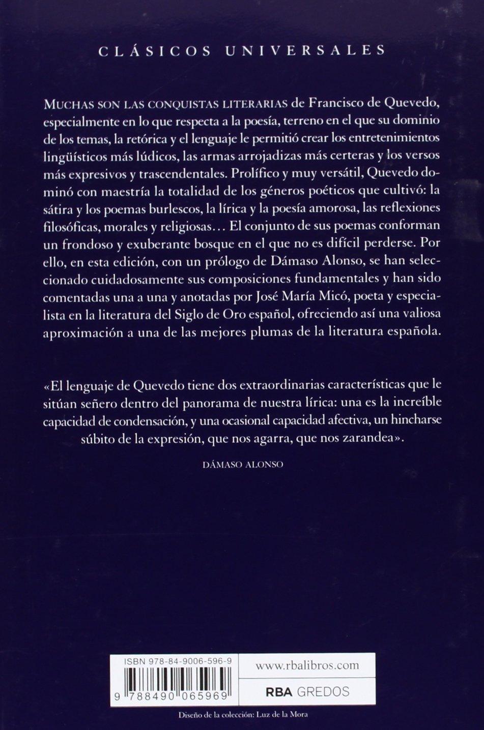 Poesía esencial (OTROS FICCION): Amazon.es: DE QUEVEDO, FRANCISCO: Libros