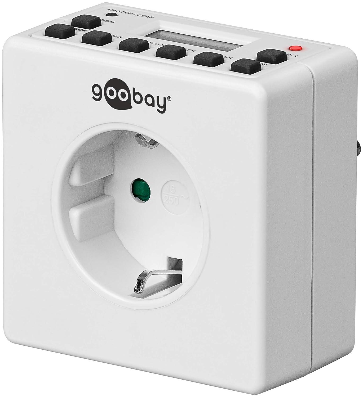 Goobay 93256 - Enchufe digital con temporizador para interiores