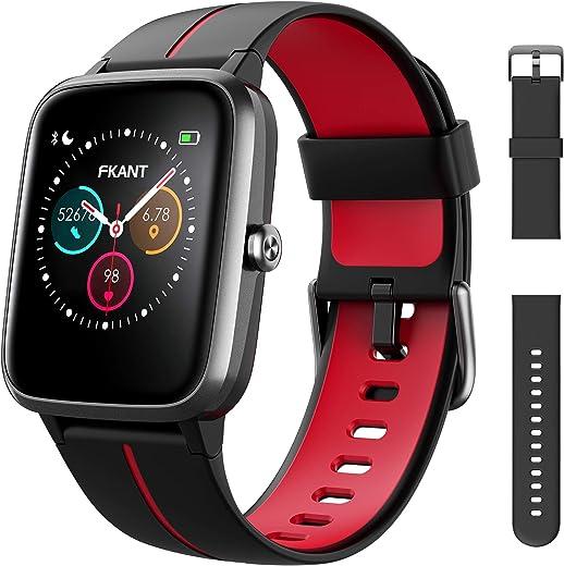 Smartwatch Orologio Uomo Donna Fitness Regali Natale con GPS Integrato Touchscreen Impermeabile 5ATM Quadrante Personalizzato Cardiofrequenzimetro Sonno Contapassi Notifiche Messaggi per Android iOS