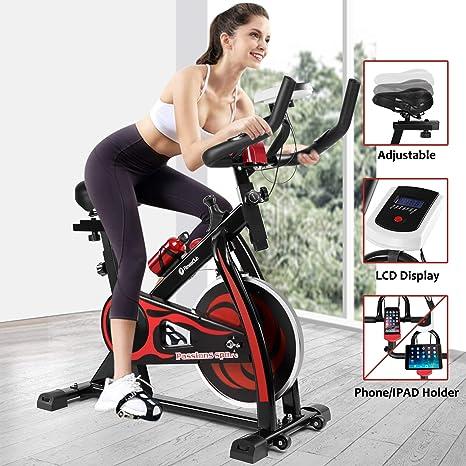 Fitnessclub Bicicleta de ejercicio para interiores con manillar ...