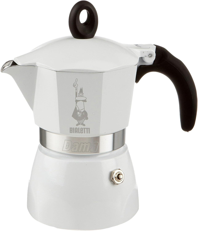 Bialetti Dama - Cafetera Italiana, 3 Tazas, Color Blanco: Amazon ...