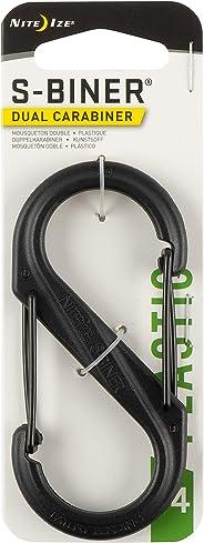 Carabiner Clip, 3-1/2 in, Plastic, Black