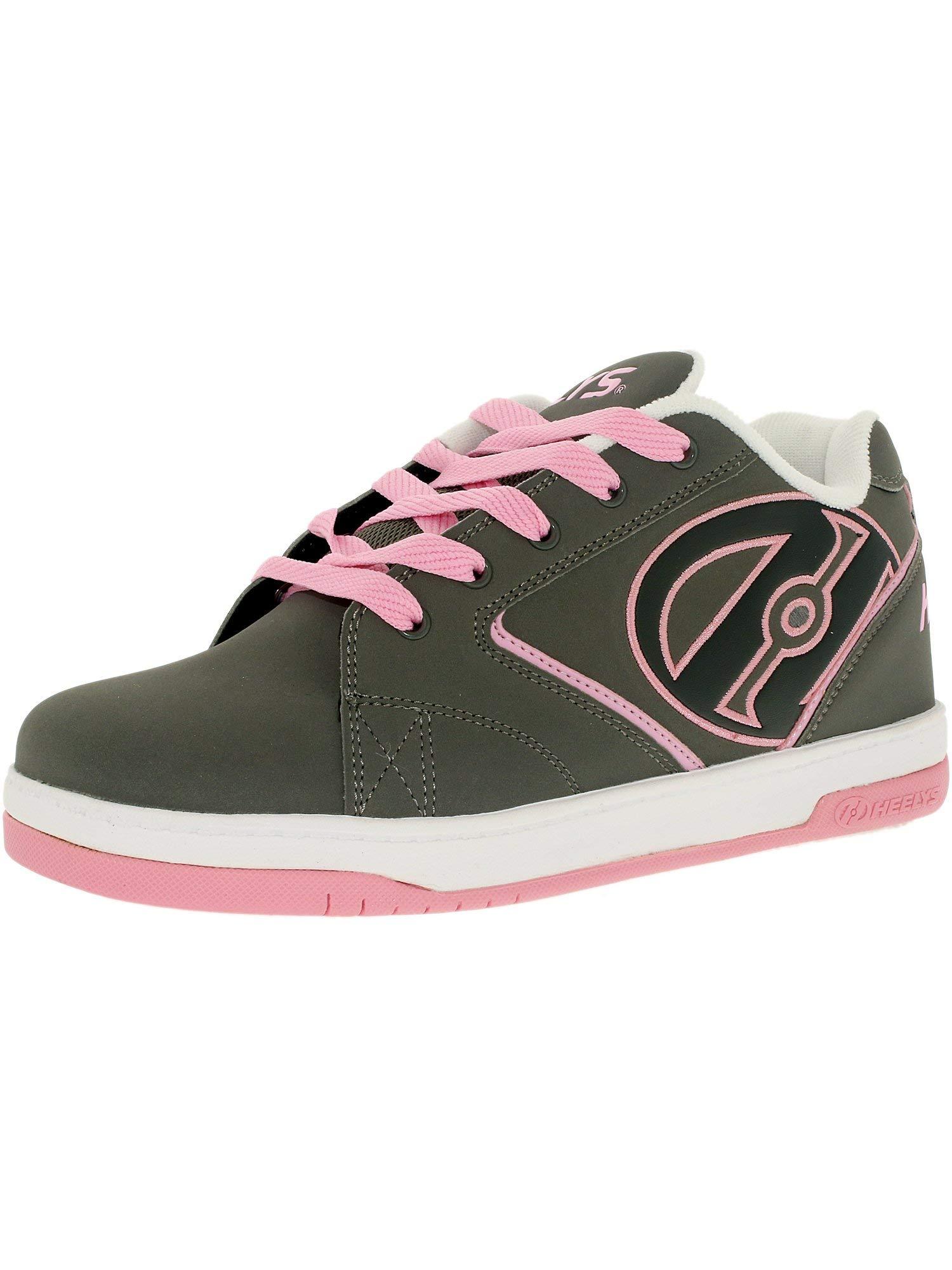 Heelys Propel Skate Shoe , Grey/Pink, 4 M US Big Kid