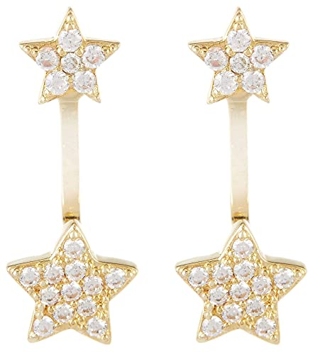 7951d66ef Image Unavailable. Image not available for. Color: Bay Studio Cubic Zirconia  Star Post Top Earrings ...