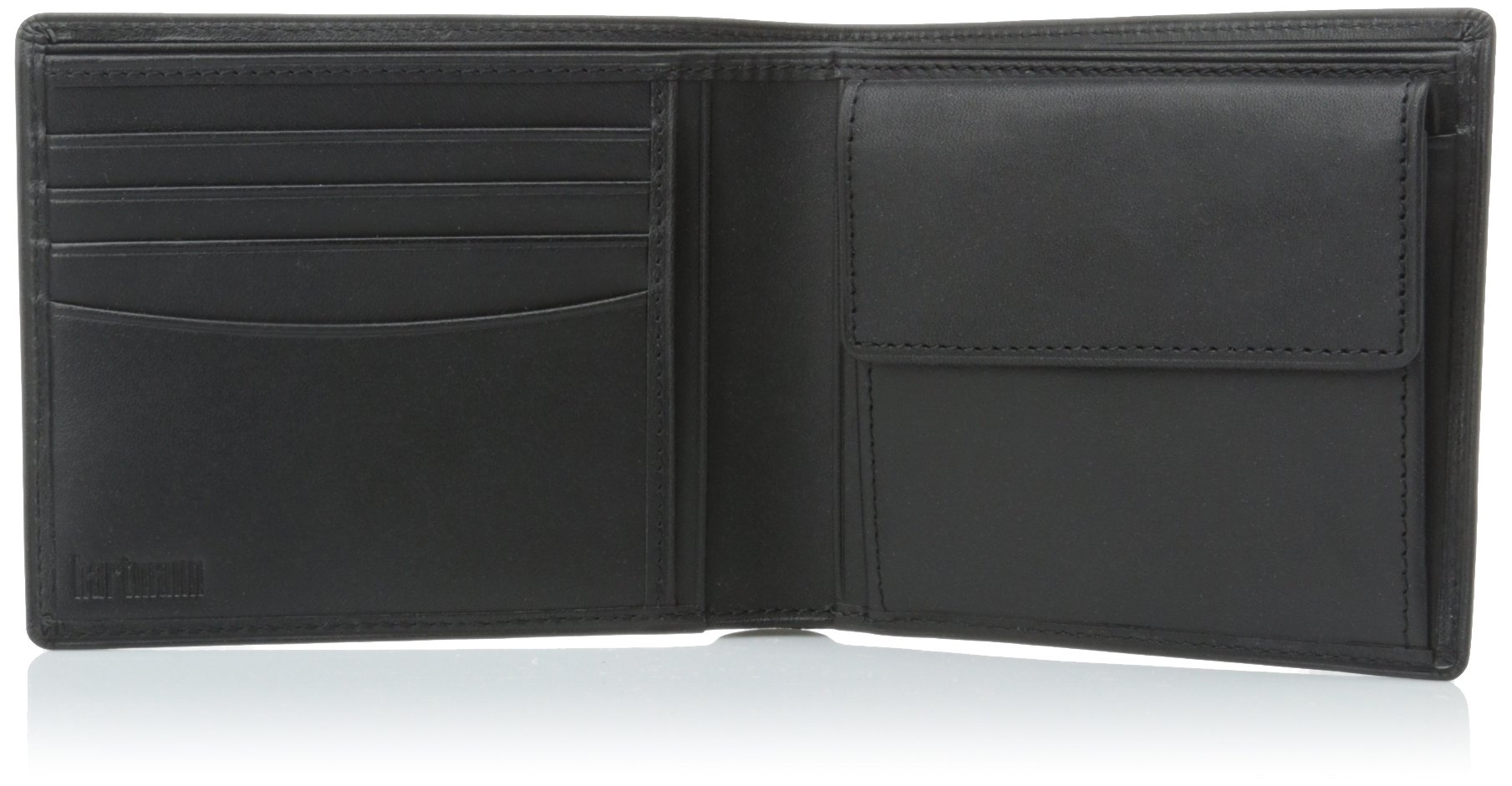 Hartmann Belting Collection Medium Wallet with Coin Pocket, Heritage Black, One Size