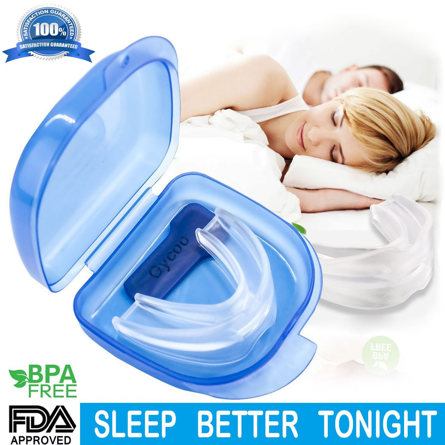 New Upgraded Anti Snoring Mouthpiece Devices Aids Snore Solution Reducing Snore for Natural and Comfortable Sleep (M)