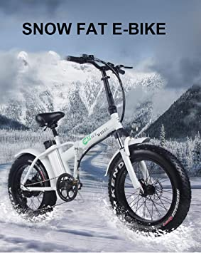 XXCY Bicicleta eléctrica de 20 Pulgadas 500w Motor 48V15ah Nieve ...