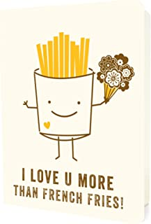 product image for Night Owl Paper Goods French Fries Letterpress Love Card
