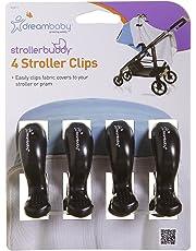 Dreambaby Strollerbuddy Stroller/Pram Clips (Black, Pack of 4)