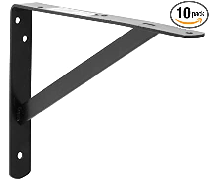 decko 49144 heavy duty shelf bracket 105 inch by 75 inch black - Heavy Duty Bookshelves