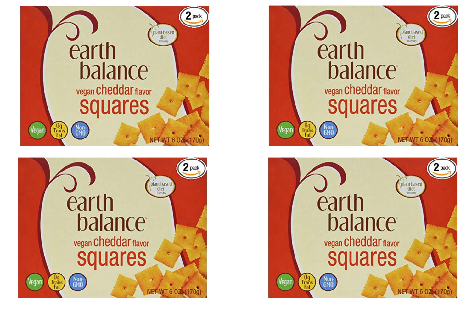 Earth Balance Vegan Cheddar Flavor Squares - 6 oz - 2 Count (4 Pack) by Earth Balance (Image #1)