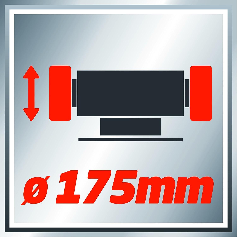 Einhell Doppelschleifer TC-BG 175 400 W, Drehzahl 2950 min-1, 230 V//50 Hz, inkl. Grob- und Feinschleifscheibe mit 175mm Durchmesser