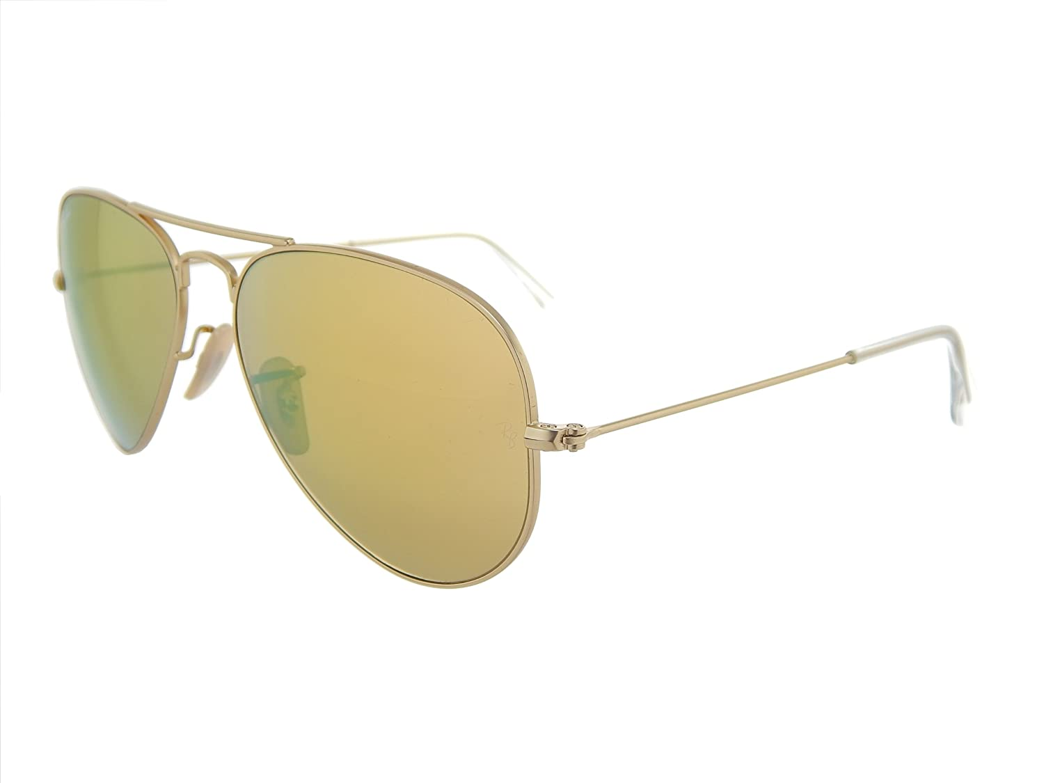 c266726e214 Amazon.com  New Ray Ban Aviator RB3025 112 93 Matte Gold Brown Mirror Gold  Lens 58mm Sunglasses  Shoes
