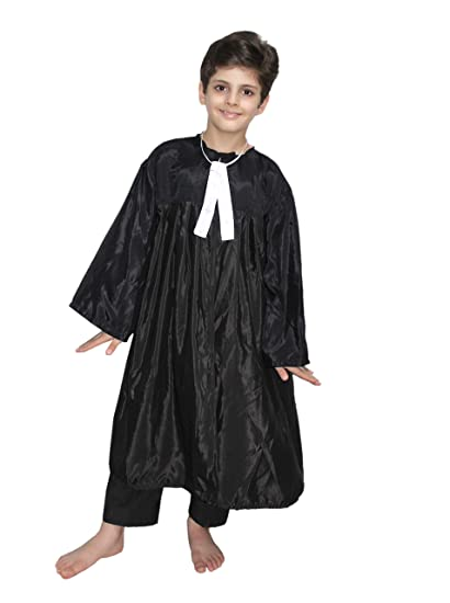 69872238026 Buy KAKU FANCY DRESSES Polyester Lawyer Costume for Boys and Girls (3-4  Years