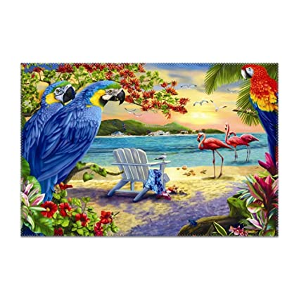 Admirable Amazon Com Hodmadod Placemats For Dining Table Beach Download Free Architecture Designs Scobabritishbridgeorg