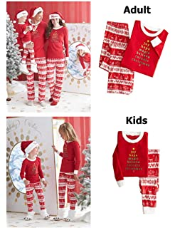 c9fa5e8189 CAIYING Christmas Stop Elfing Around Printed Family Matching Pajama PJ Sets