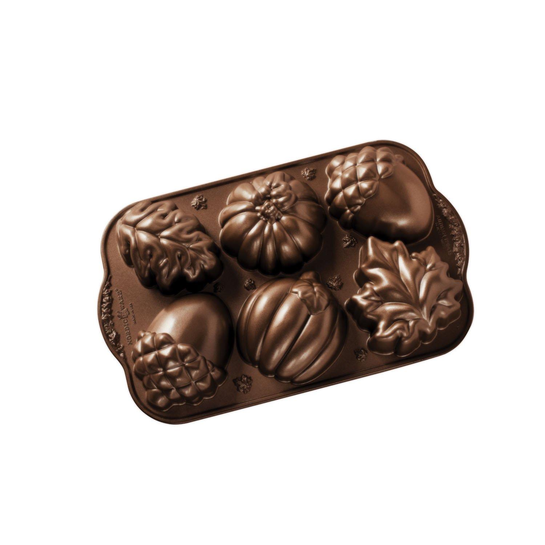 Nordic Ware Autumn Treats Pan, Bronze by Nordic Ware