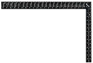 "Starrett RS-24 Steel L-Shaped Rafter/Framing Square, 24"" x 16"" Length"