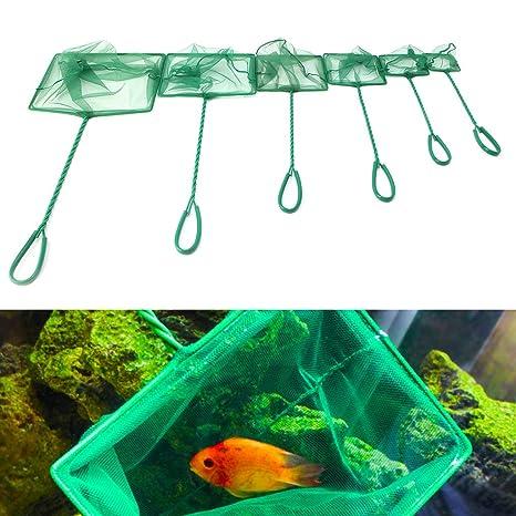 Dabixx Red cuadrada para pecera de acuario (tamaño pequeño, 3 a 10 pulgadas,
