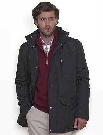 Vedoneire Mens Black Car Coat (3041) Carcoat Water Resistant