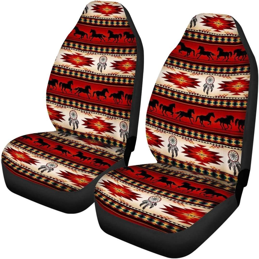 ELEQIN Sunflowers Car Seat Covers Set of 2 Vehicle Seat Protector Car Covers for Auto Cars Sedan SUV Automotive Interior