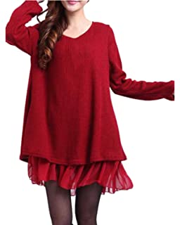ZANZEA Mujer Vestido Elegante Algodón Corto Casual Gasa Lazo Cuello Redondo Mangas Largas Vestidos Invierno Mujer
