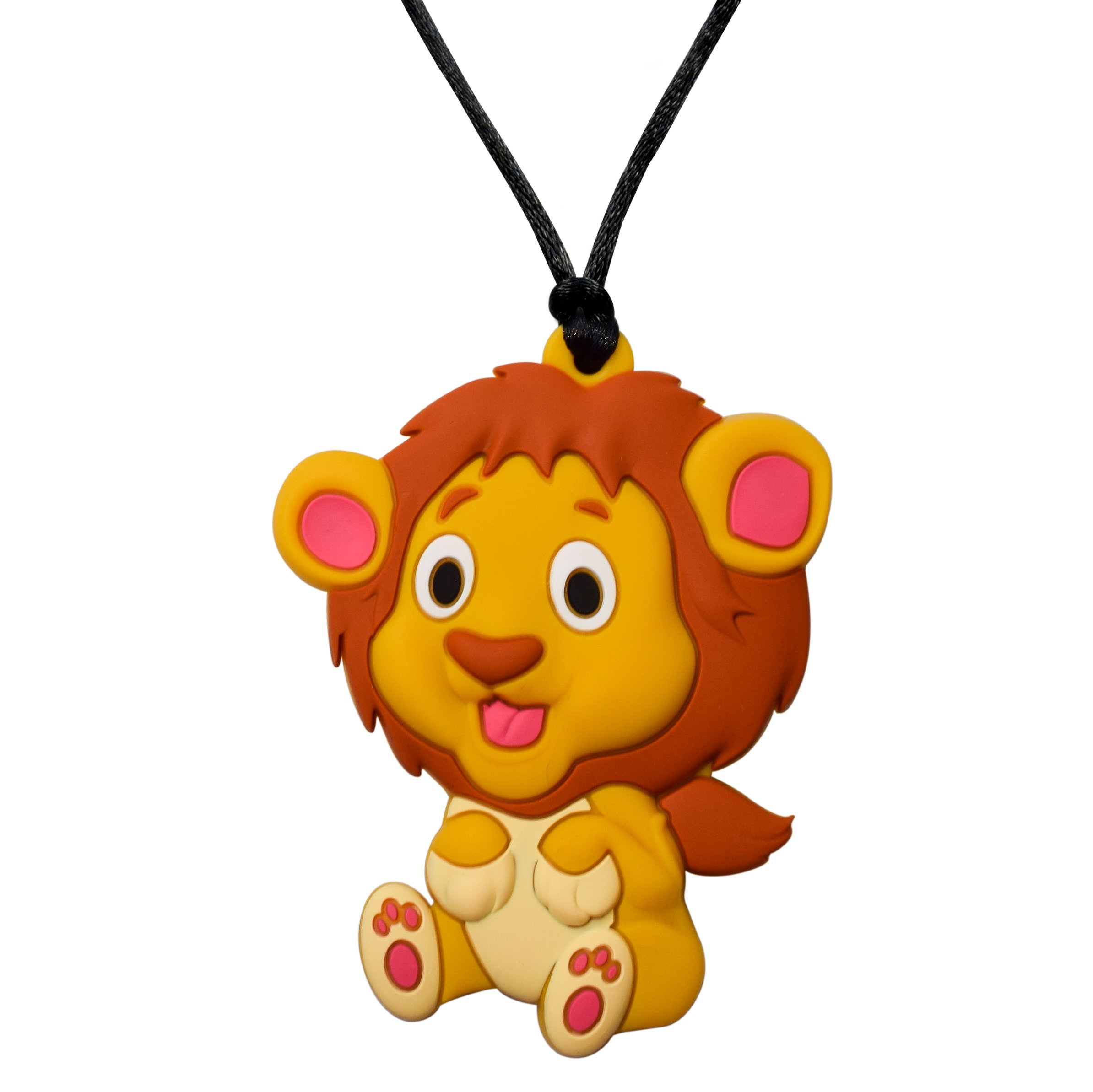 Sensory Oral Motor Aide Chewelry Necklace - Chewy Jewelry for Sensory-Focused Kids with Autism or Special Needs - Calms Kids and Reduces Biting/Chewing – (Lion Pendant)