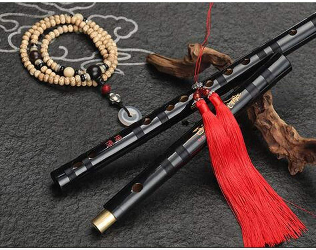 suitable for beginners adult bamboo flute XIAONINGMENG Flute refined flute instrument musical instruments supplies childrens students black antique professional playing bamboo flute