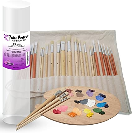 6Pc//Set Acrylics Drawing Watercolor Brush Oil Painting Art Brush Supplies T1W4