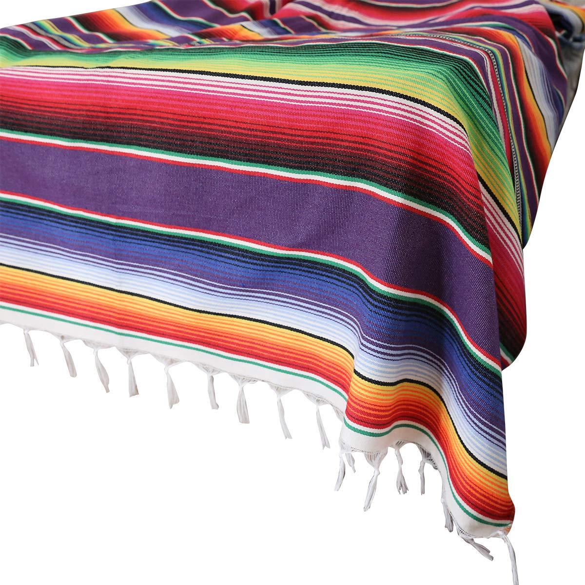 59 x 84 in Mexican Tablecloth for Mexican Party Wedding Decorations, Mexican Saltillo Serape Blanket Bed Blanket Outdoor Table Cover Table Cloth Tapestry Blanket Picnic Mat by Xplanet
