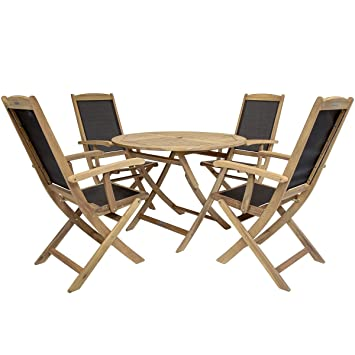 Amazon.de: Charles Bentley - Gartenmöbel-Set aus Akazienholz - 1 ...