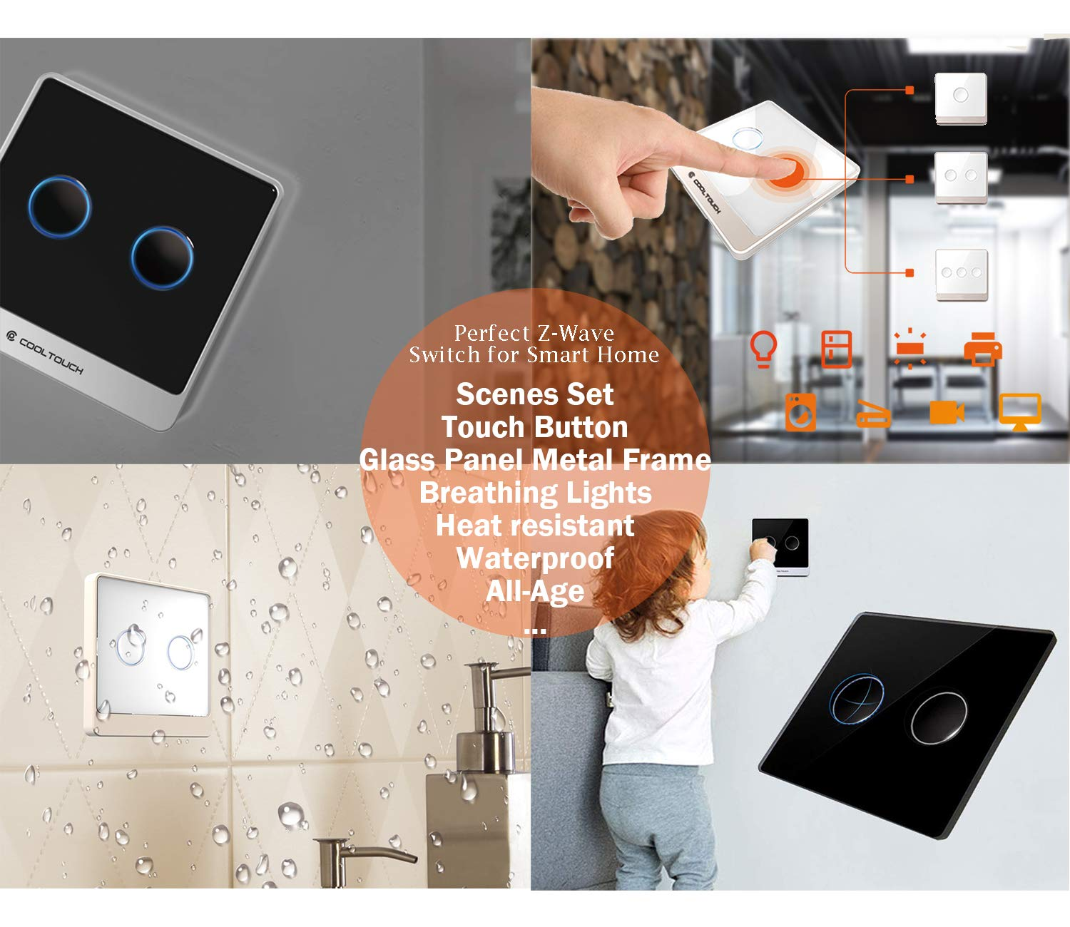 CoolTouch Smart Switch, Z-Wave zwave protocal, estable, buen ...