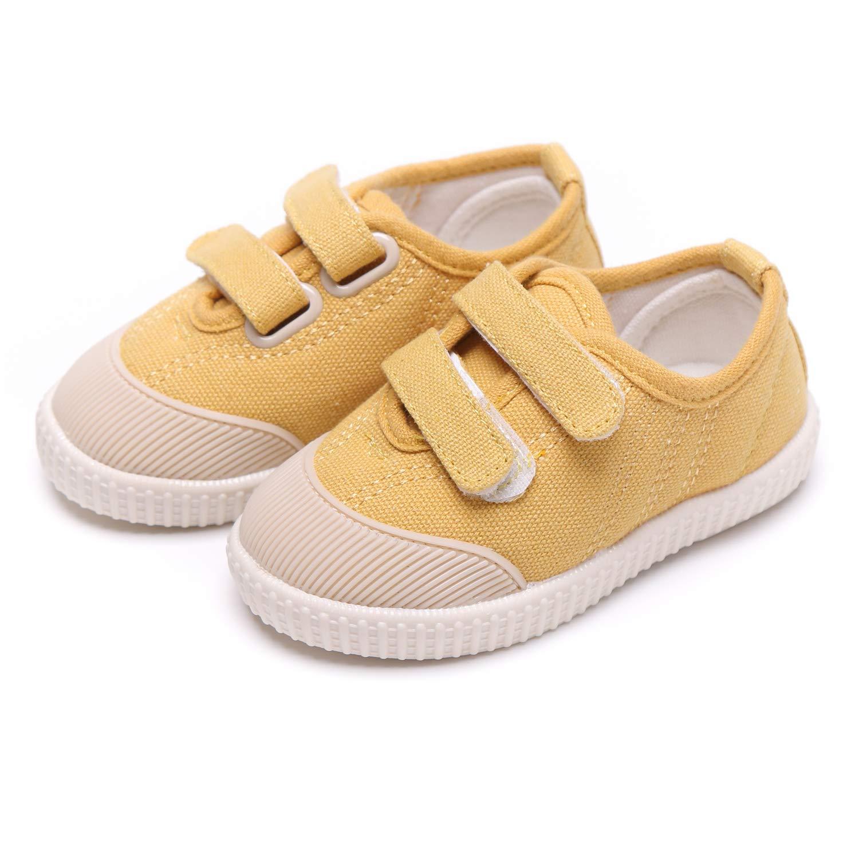 Nouveau bébé garçon Fille Semelle souple antidérapant sur toile Sneakers Bottines Chaussures de sport