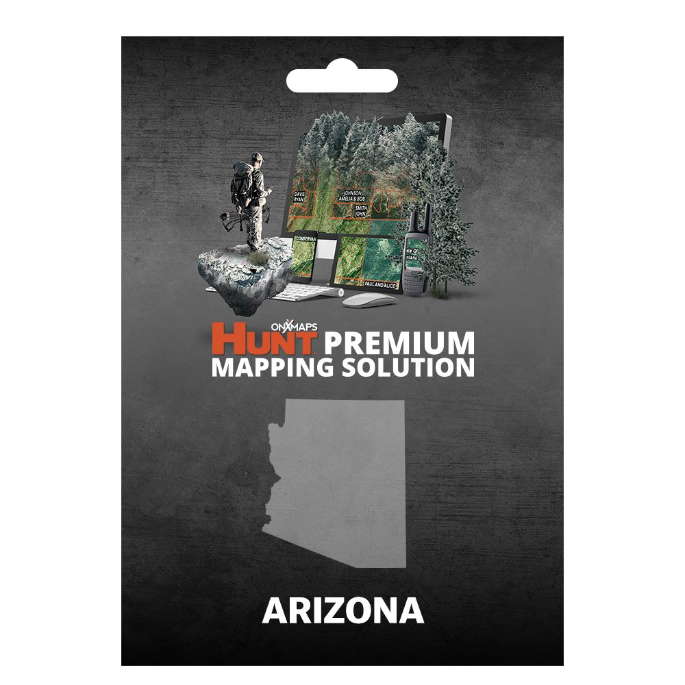 onXmaps HUNT Arizona: Digital Hunting Map For Garmin GPS + Premium Membership For Smartphone and Computer - Color Coded Land Ownership - 24k Topo - Hunting Specific Data