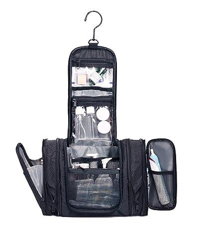 WANDF Expandable Toiletry Bag Hanging Dopp Kit Water-Resistant Bathroom Bag