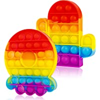 2 Packs Pop Bubble Fidget Sensory Toys, Figit Set Silicone Cute Figetget Popits Toys Satisfying Autism Special Needs…