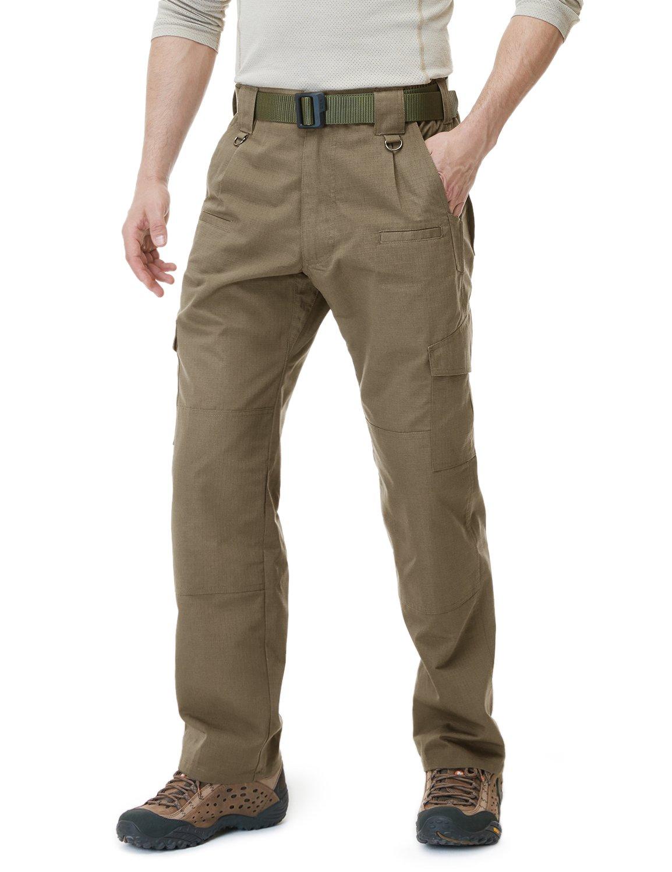 CQR Men's Tactical Pants Lightweight EDC Assault Cargo, Duratex(tlp104) - Coyote, 32W/30L by CQR