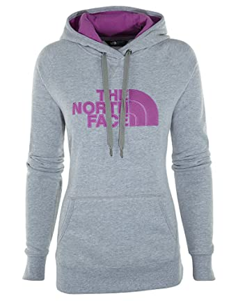 8cc93c2d4 The North Face Women's Avalon Pullover Hoodie, TNF Light Grey Heather/Sweet  Violet, SM at Amazon Women's Clothing store: