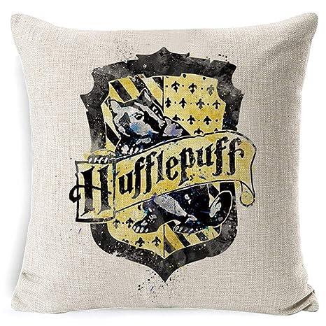Cojín Harry Potter, Hogwarts, Gryffindor, Ravenclaw, Hufflepuff, Slytherin, Quidditch, Sombrero Seleccionador, Triángulo de las Reliquias de la ...