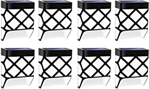Techgomade Solar Deck Lights, LED Solar Fence Lights, Outdoor Lighting for Garden Decor, Wall Mount Fence Post Lights, Patio, Front Door, Stairs, Warm White/Color Changing, 8 Pack