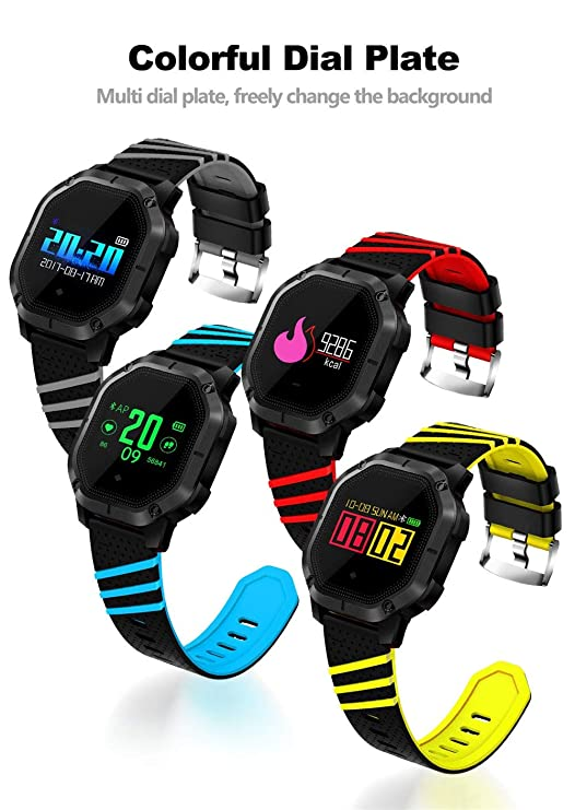 ... Tracker Watch with Heart Rate Monitor, Waterproof Smart Fitness Band with Step Counter, Calorie Counter, Anti-Lost Watch for Kids Women and Men: Watches