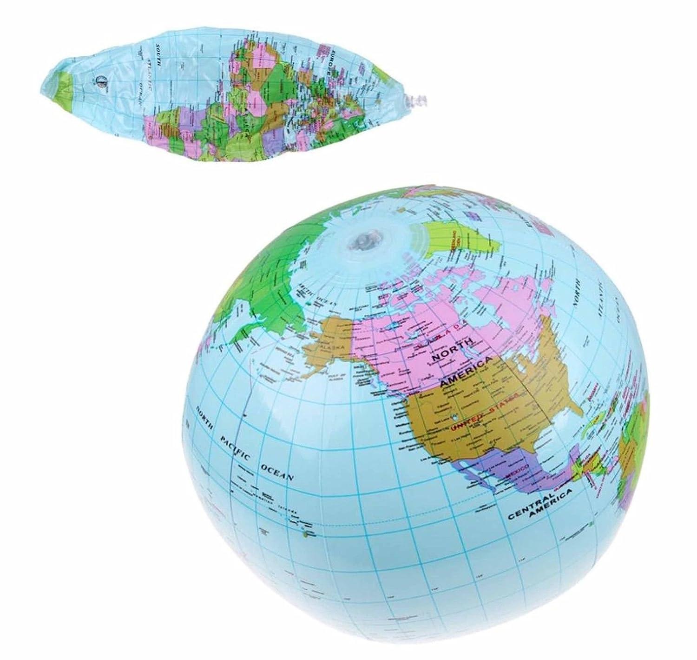 systemseleven Hinchable GLOBO ATLAS mapa del mundo TIERRA ...