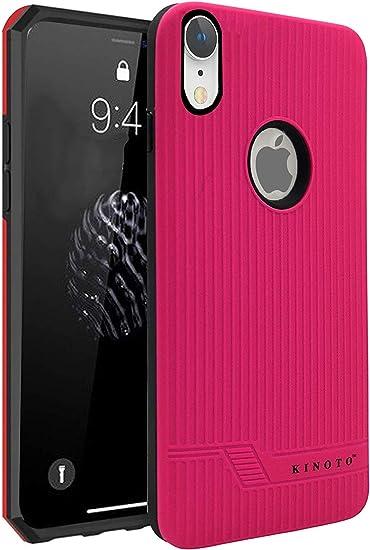 Kinoto Coque pour iPhone XR, coque résistante à la vie pour Apple iPhone 10R Qi Slim Silicone Rigide Transparent Couverture hybride Absorption des ...