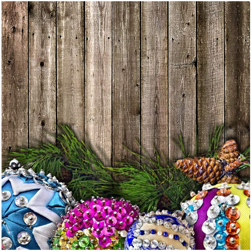 Baocicco 10x10ft Happy Easter Theme Backdrop Shining Easter Eggs Pinecones Photo Background Photography Backdrop Rustic Shabby Wood Board Wall Backdrop Photo Studio Video Props Photo Booth